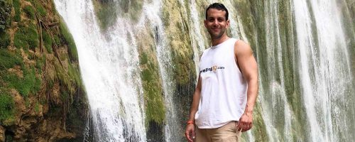 Ivan Quintanilla as a ManAboutWorld gay travel magazine correspondent
