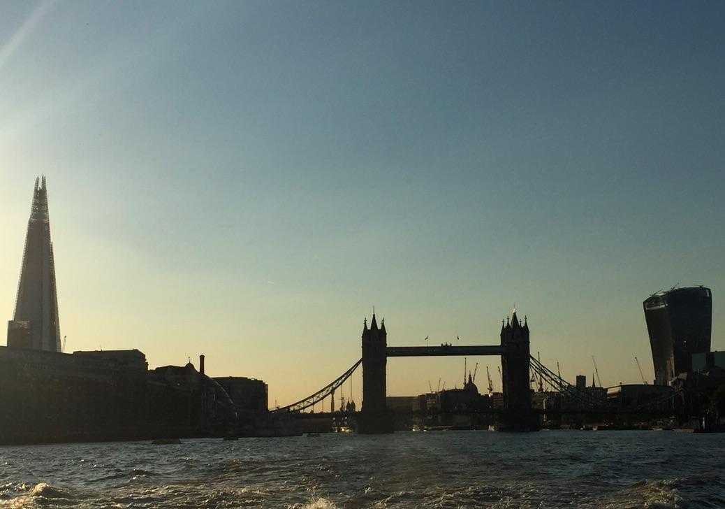 London skyline from boat in ManAboutWorldl gay travel magazine