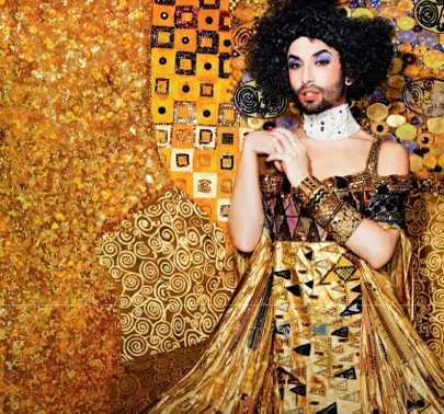 Conchita Wurst as seen in ManAboutWorld gay travel magazine and in top gay travel stories