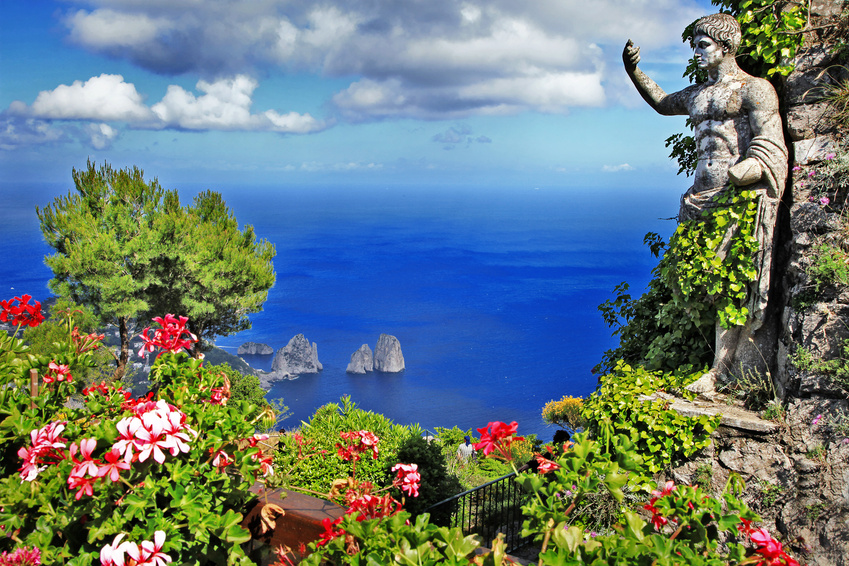 beautiful Capri island, Italy