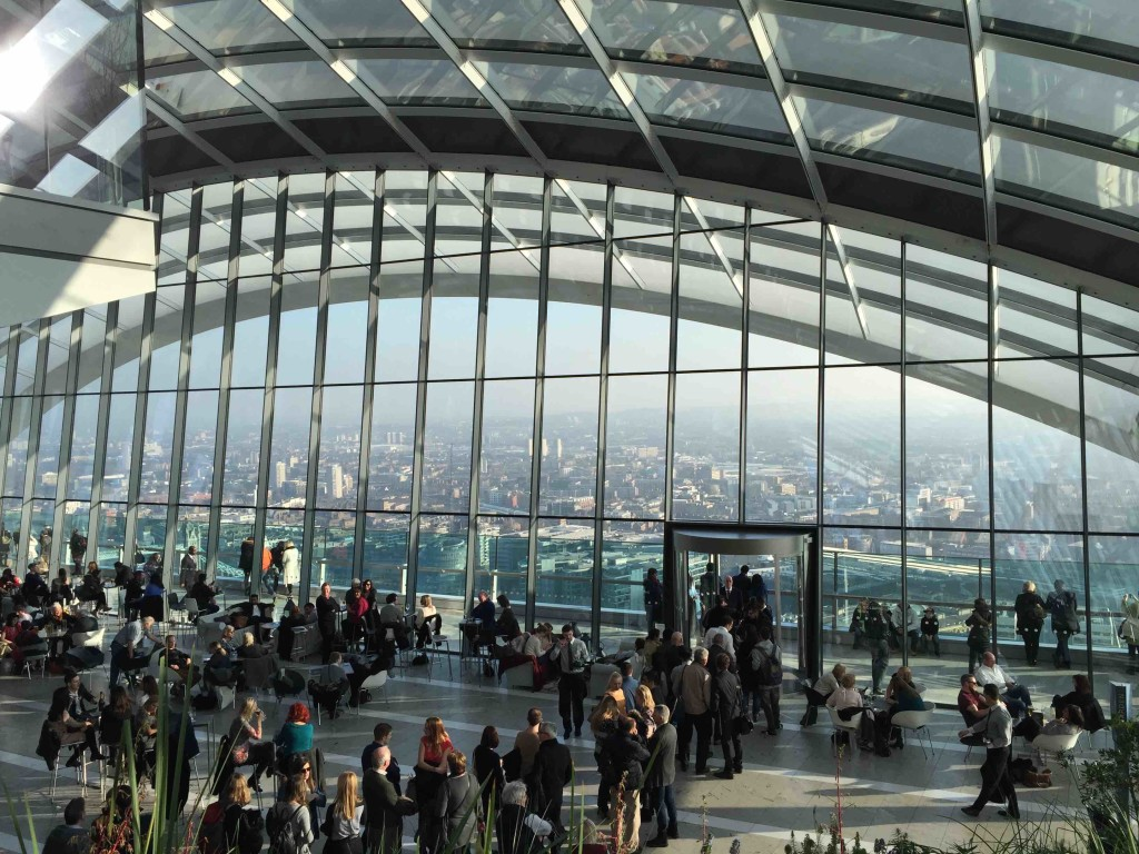 London Sky Garden in ManAboutWorld gay travel magazine, six cool places to go