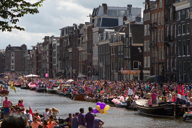 Amsterdam gay pride, ManAboutWorld gay travel magazine
