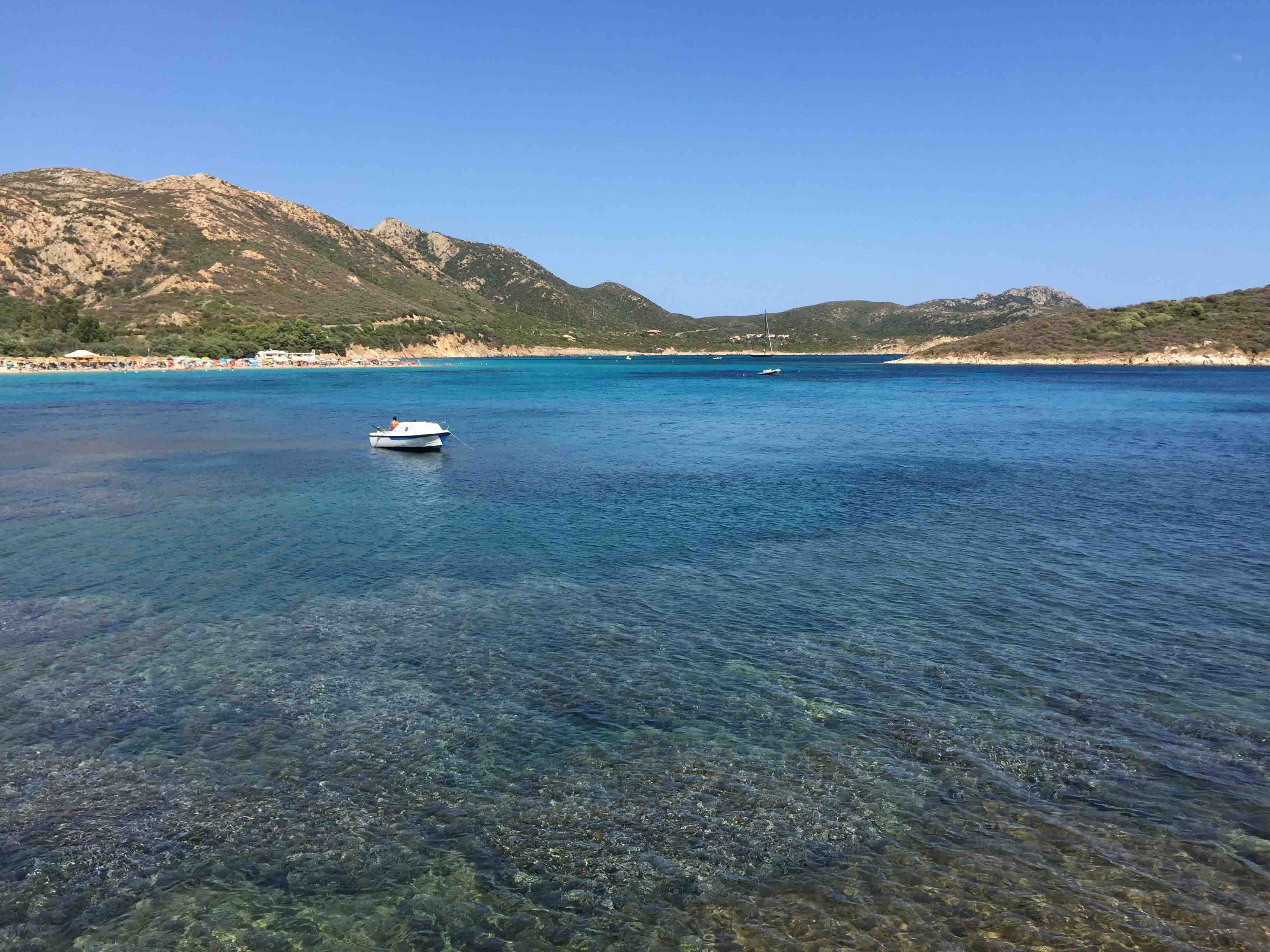 Sardinian Beach Scene in ManAboutWorld gay travel magazine