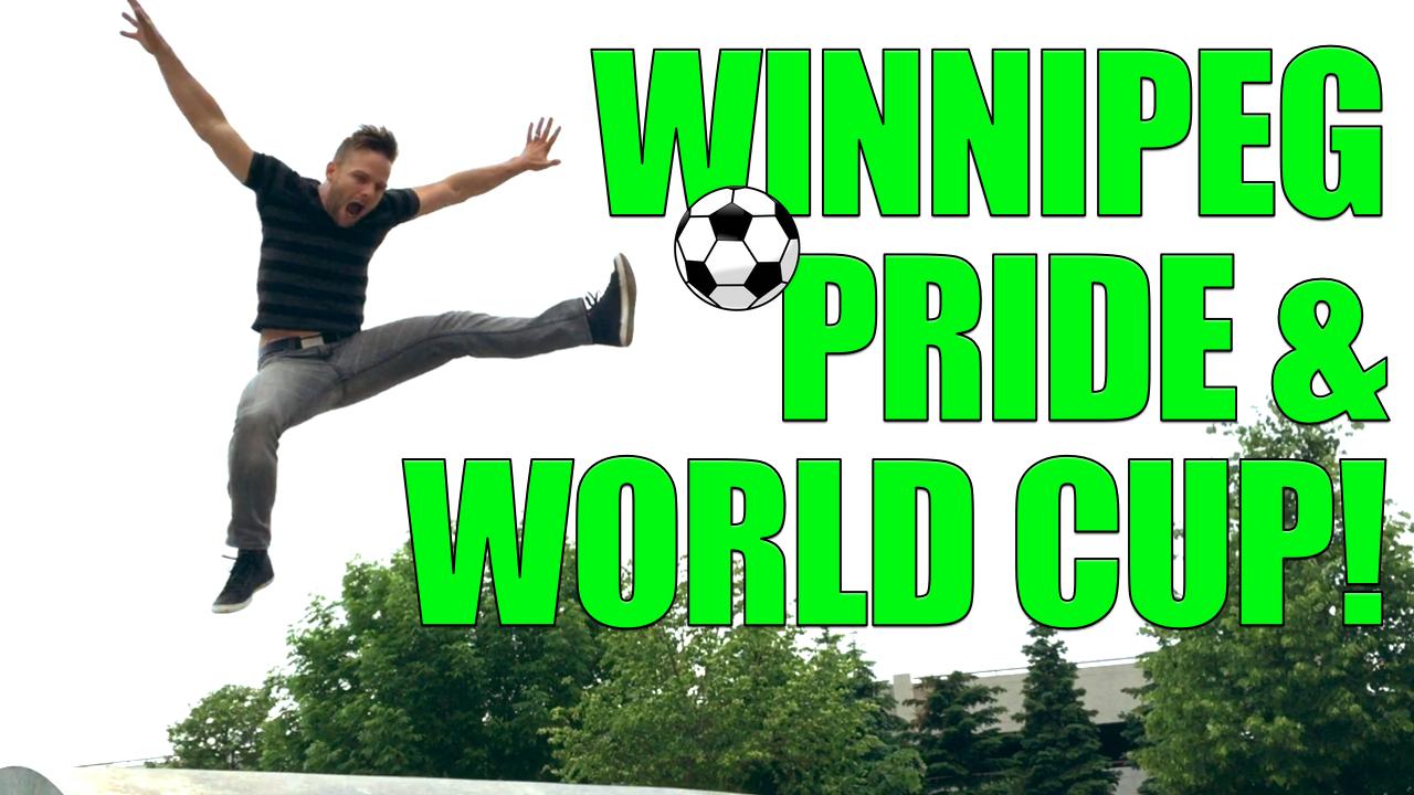 Tom kicks it up at Gay Pride Winnipeg, ManAboutWorld gay travel magazine