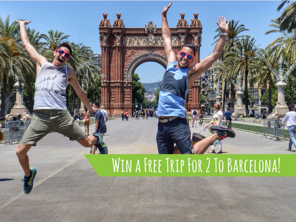 Jumping for MyGayPride with Two Bad Tourists in Barcelona, ManAboutWorld gay travel magazine