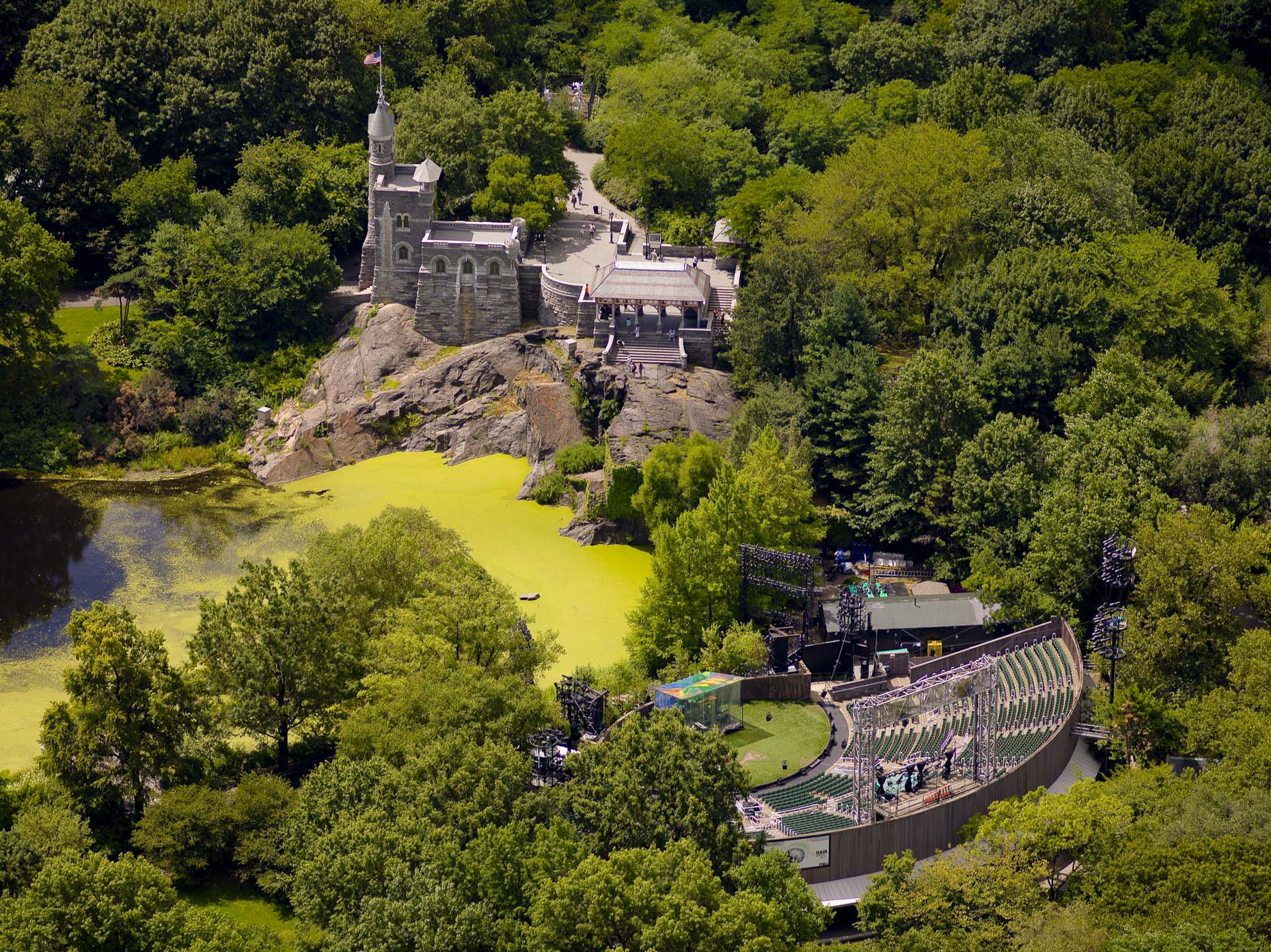 Belvedere Castle: designed in 1869 by Calvert Vaux (co-designer of Central Park.