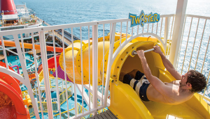 Twister water slide on the Carnival Cruise Breeze