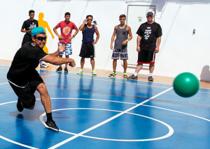 Dodgeball on the Carnival Cruise Breeze