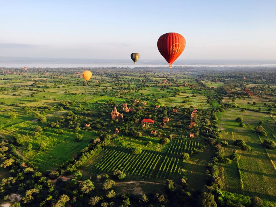 Myanmar as seen from a balloon in ManAboutWorld gay travel magazine