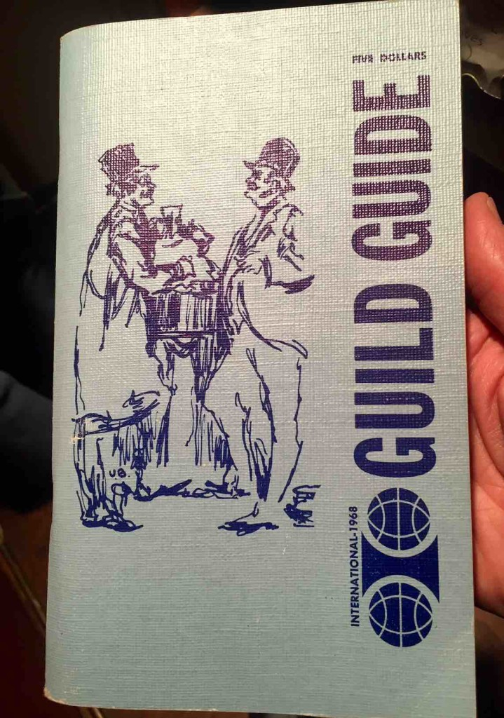 Guild Guide from 1968 in ManAboutWorld gay travel magazine