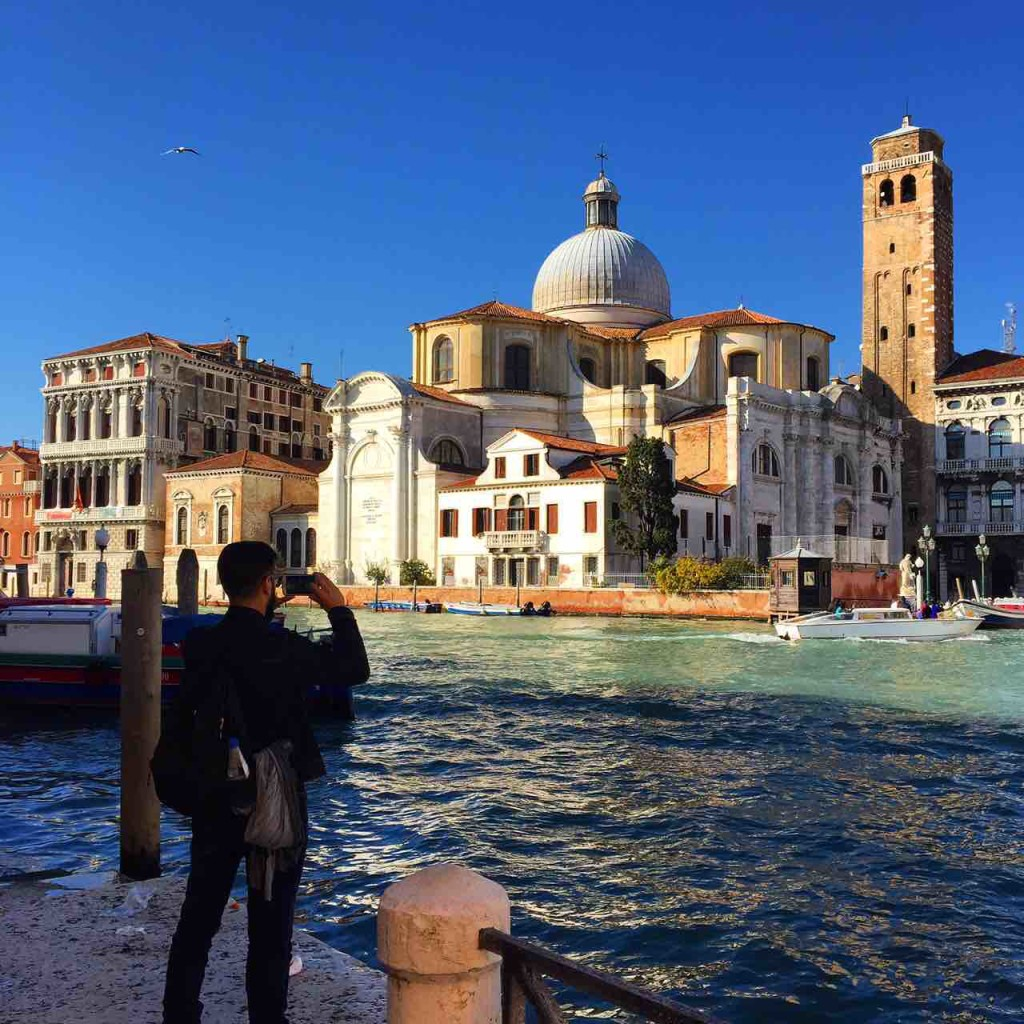 View of the Chiesa di San Geremia from the Grand Canal in Venice and in ManAboutWorld gay travel magazine