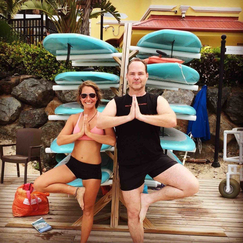 Paddleboard yoga prep with Dennis Hensley in ManAboutWorld gay travel magazine