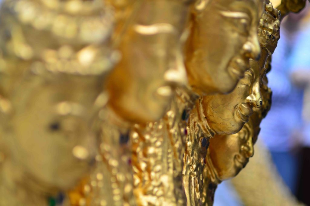 Gold Statue Detail in Thailand and in ManAboutWorld gay travel magazine