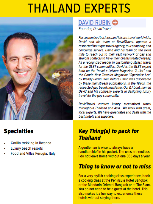 Thailand travel expert David Rubin in ManAboutWorld gay travel magazine