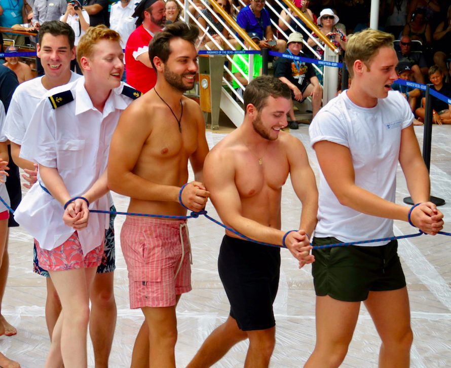 Crossing the equator in ManAboutWorld gay travel magazine