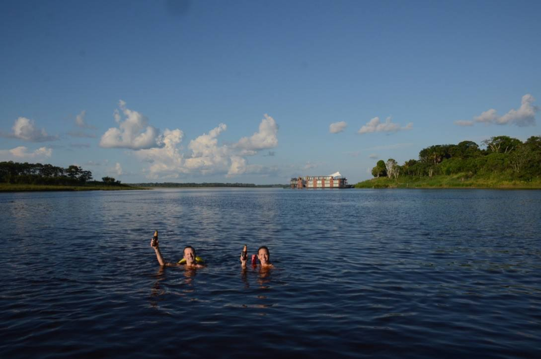 Ed Salvato on an Aqua Expeditions cruise of the Amazon River in ManAboutWorld gay travel magazine