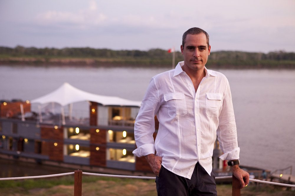 Ed Salvato aboard the Aqua Expeditions Aria in the Amazon and in ManAboutWorld gay travel magazine