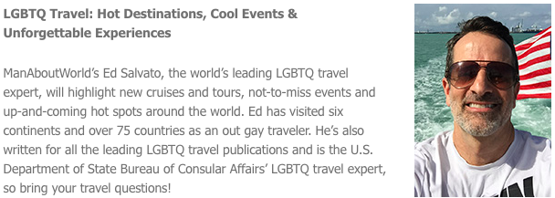 Meet Ed Salvato at the Boston Globe Travel Show Sat Feb 10