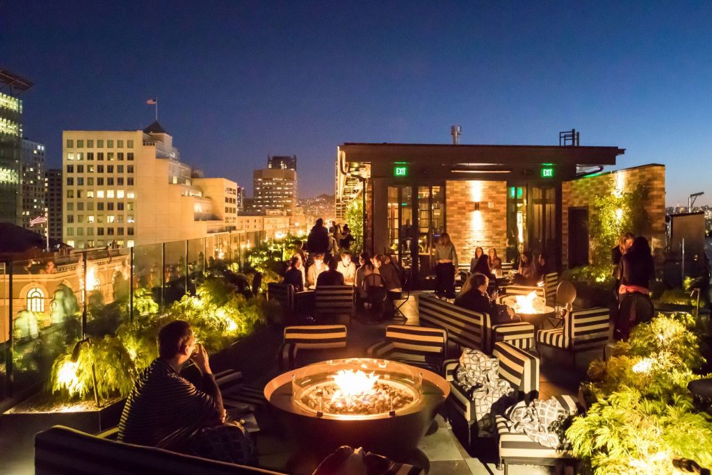 Proper Hotel rooftop in San Francisco and in ManAboutWorld gay travel magazine