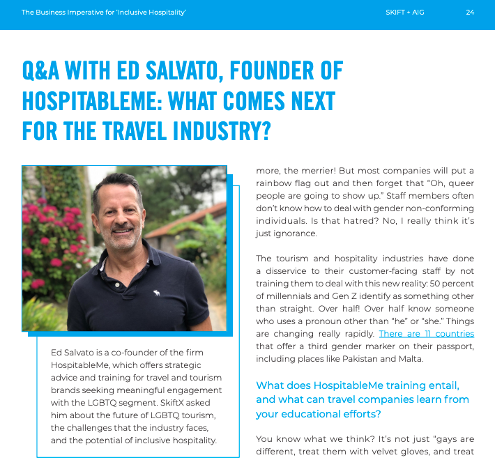 Ed Salvato in Aig travel report and skift